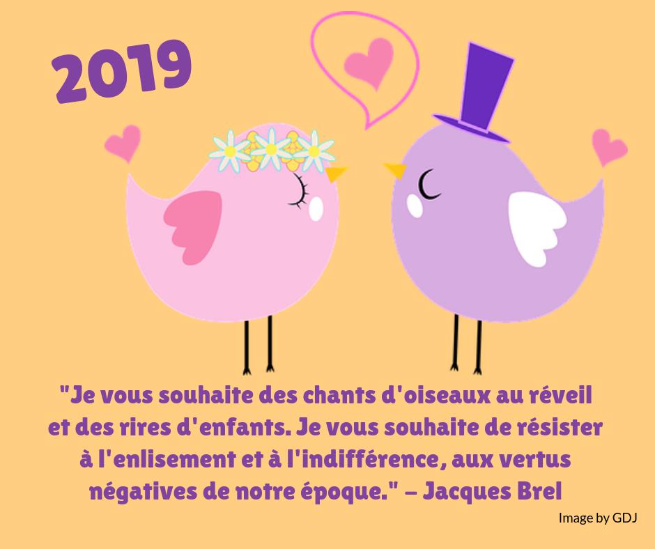 Voeux 2019 GDJ Jacques Brel